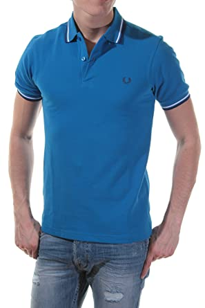 Fred Perry Polo M3600 Slim fit 701 Azul olimpico: Amazon.es: Ropa ...