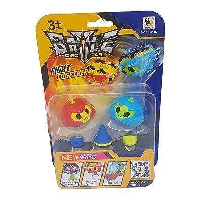 Battle Gyro Car - Peonza Con Ruedas + Accesorios (PACK 2): Juguetes y juegos