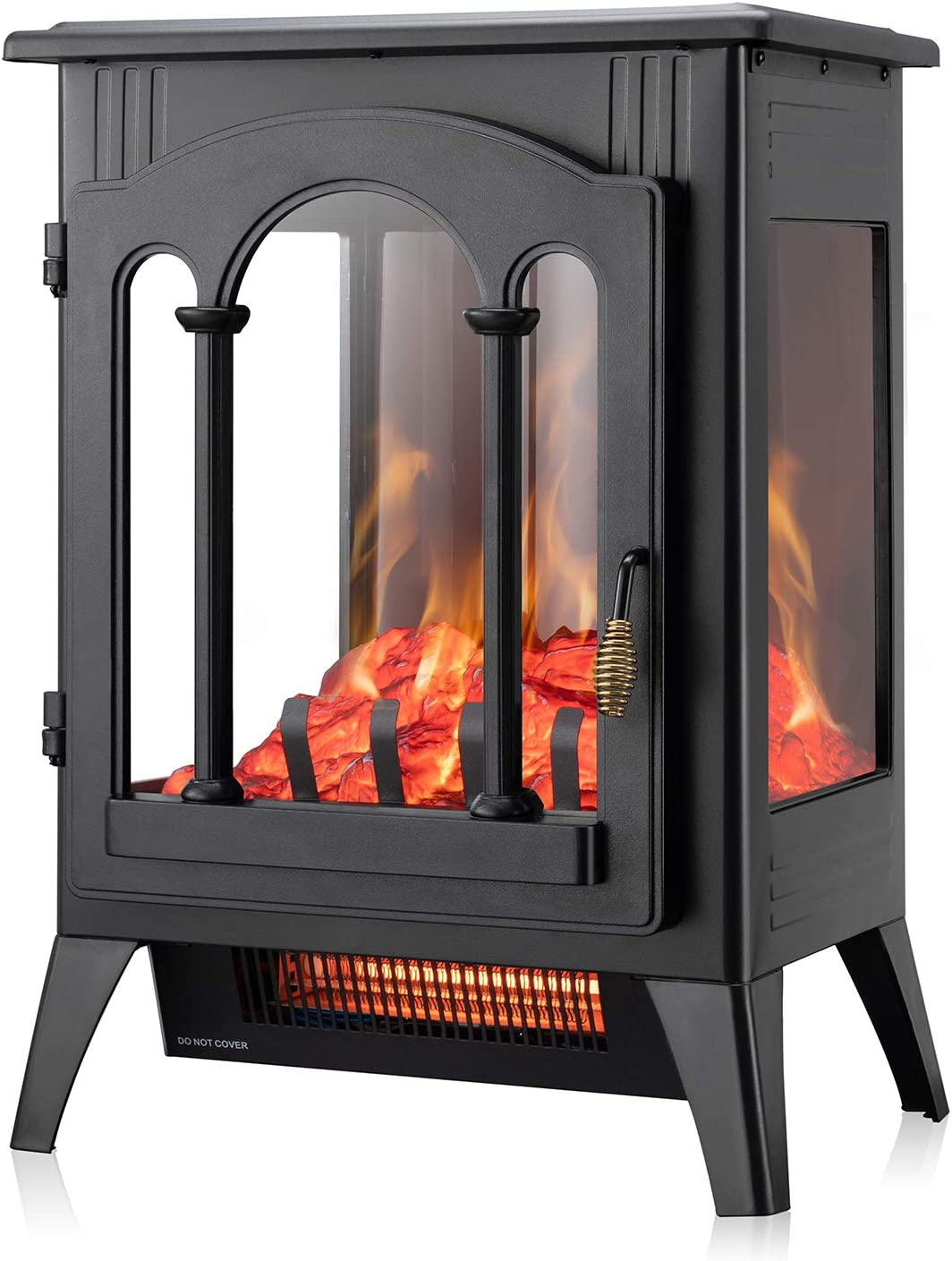 Xbeauty Electric Fireplace Stove Freestanding Fireplace Heater With Realistic Flame Indoor Electric Stove Heater Portable Infrared Thermostat Overheating Safety System 1000w 1500w 16 Inch Kitchen Dining