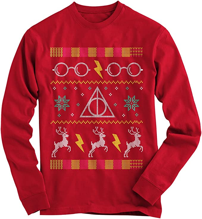 Amazon.com: Gnarly Tees Harry Potter - Suéter navideño para ...