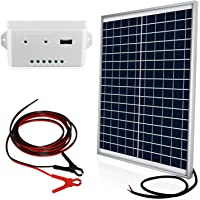 $32 » ECO-WORTHY 20 Watts 12V Solar Panel Kit: Waterproof 20W Solar Panel + 3A USB Port…