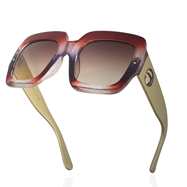 4f292068cf3 ROYAL GIRL Oversized Square Sunglasses Women Multi Tinted Frame Fashion  Designer Trendy Shades