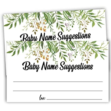 graphic regarding Baby Shower Cards Printable identify 50 Greenery Kid Track record Tips Playing cards, Printable Eco-friendly Foliage Boy or girl Standing Sport, Boy or girl Shower