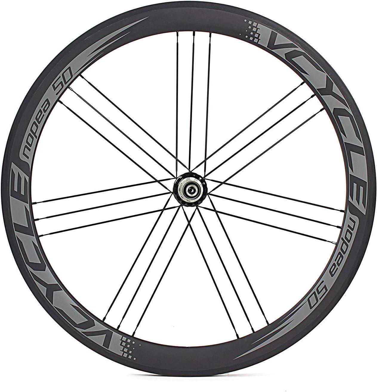 ノーブランド品 ユニセックス VCYCLE Nopea 700c カーボンロードバイクホイールクリンチャー50mm G3ストレートプル23幅 UDマット18/21 穴シマノ8/9/10/11スピード 1575g