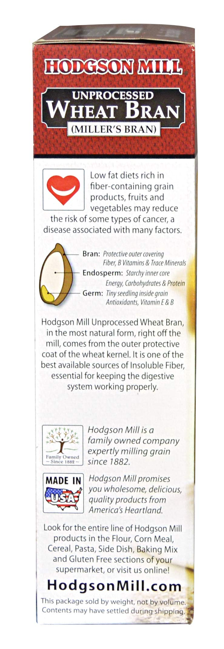 Hodgson Mill Wheat Bran, Unprocessed Millers Bran, 12-Ounce (Pack of 6) by Hodgson Mill (Image #6)