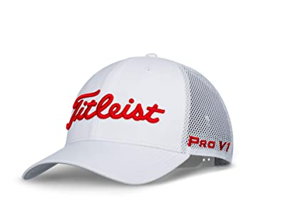 1486f6c1a92 Image Unavailable. Image not available for. Color  Titleist Tour Snapback  MESH White Collection Golf Cap