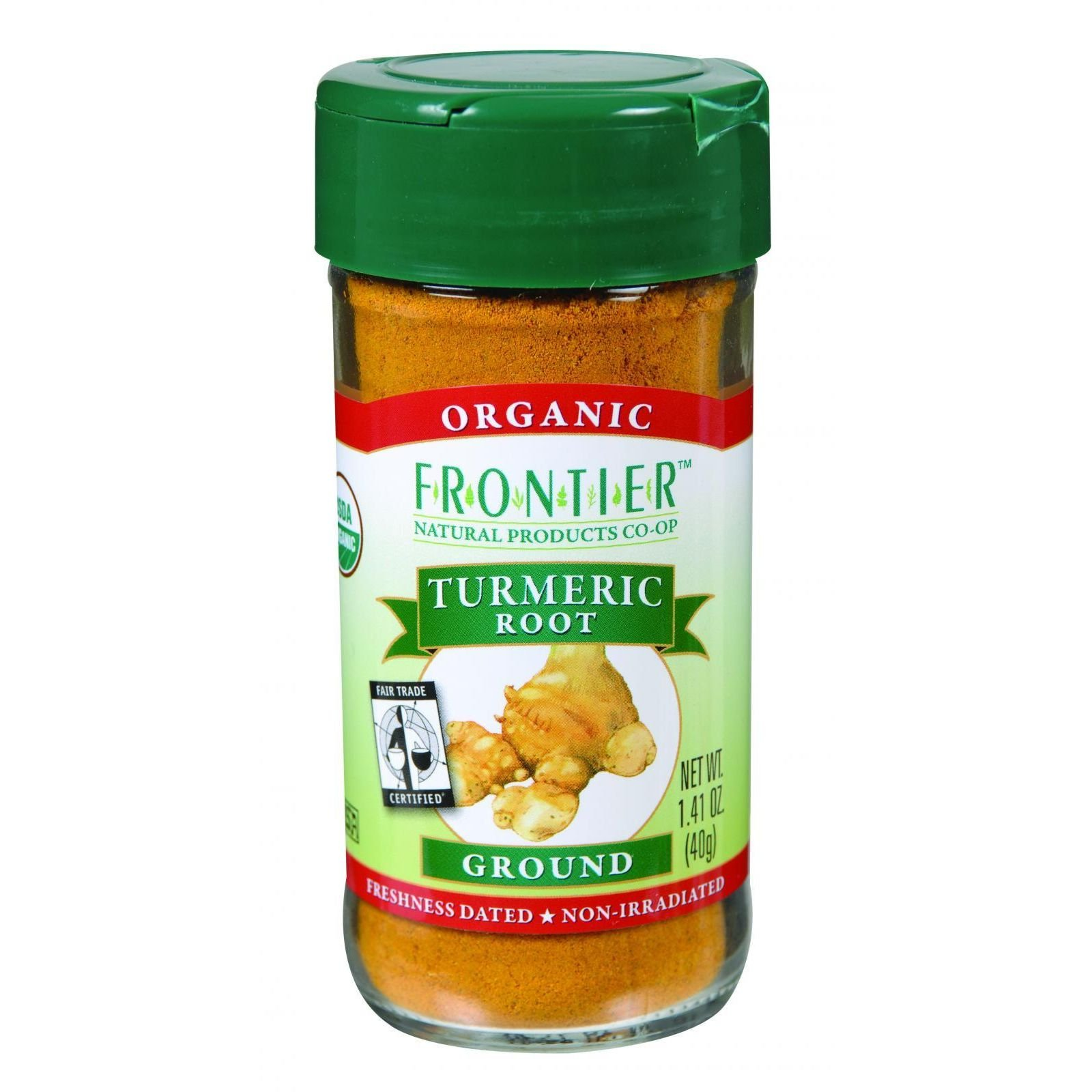 Frontier Natural Products Tumeric Root, Og, Ground, Ft, 1.41-Ounce