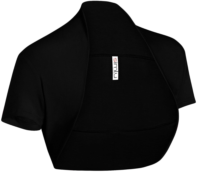 Simlu Long Sleeve Bolero Shrug for Women Made in USA