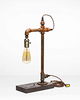 product image for Pipe Industrial Table-Top Desk Lamp Made in America (Searcy Lamp)
