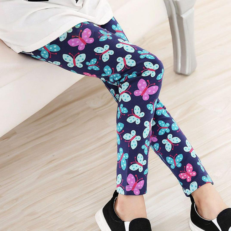 TM Toddler Kids Baby Girls Flower Printing Leggings Pencil Pants Tights Trousers AMA