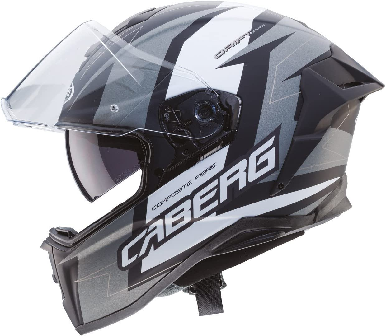 55//56 Caberg Drift Evo Speedster Integralhelm Schwarz Matt//Grau S