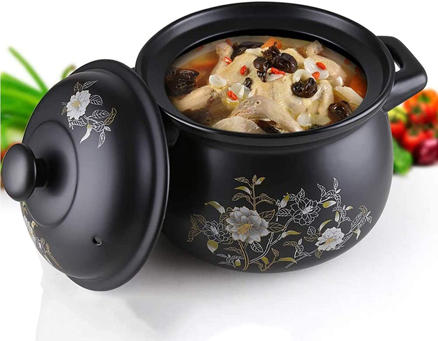 Cooking Pot, Dutch Ovens Round Casserole Dish, Stew Pot With Lid, For Home Kitchens