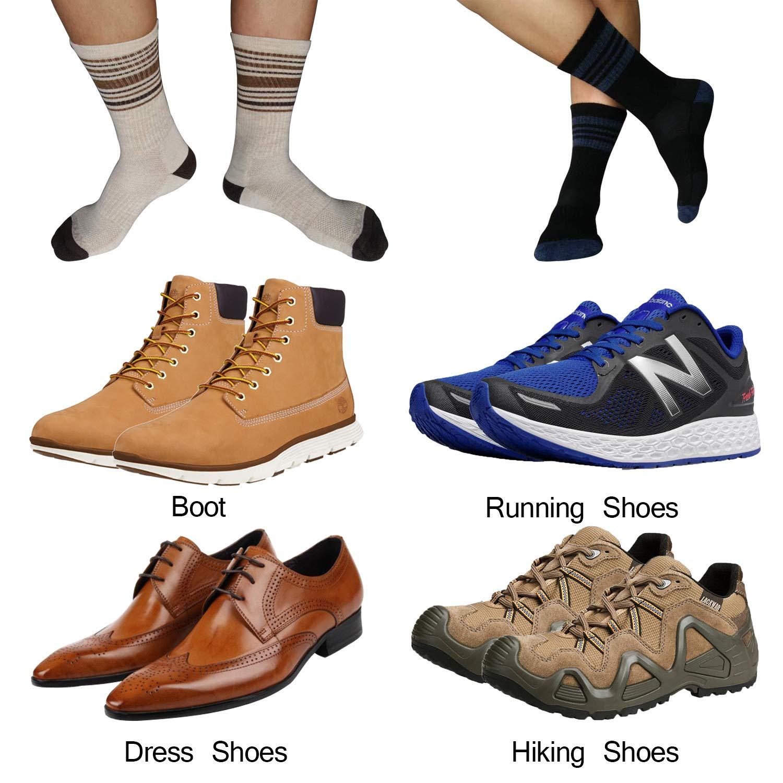 SIXDAYSOX 3 Pairs Merino Wool Socks for Men Hiking Crew Winter Warm Dress Socks Size 7-12
