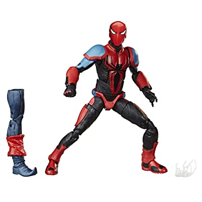 "Spider-Man Hasbro Marvel Legends Series 6"" Collectible Action Figure Spider-Armor Mk III Toy, with Build-A-Figurepiece & Accessory: Toys & Games"