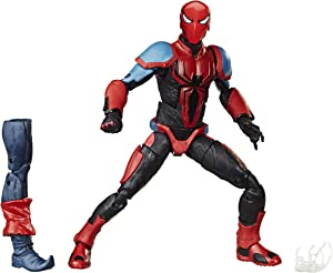 "Spider-Man Hasbro Marvel Legends Series 6"" Collectible Action Figure Spider-Armor Mk III Toy, with Build-A-Figurepiece & Accessory"