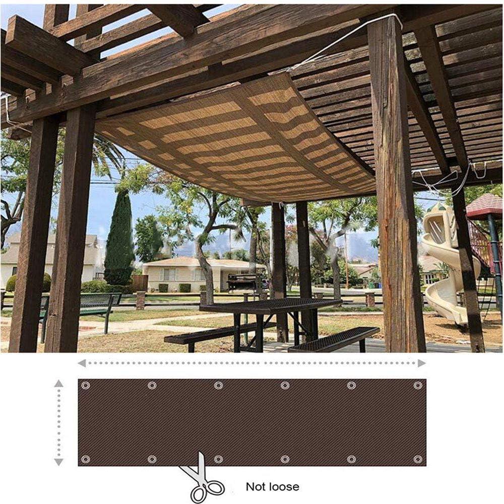 ZAZAP Toldo Vela De Sombra, Sombra Vela, Ojales, 95% Resistente A Los Rayos Ultravioleta, CordóN De SujecióN Y Brida para Cables, MarróN: Amazon.es: Hogar