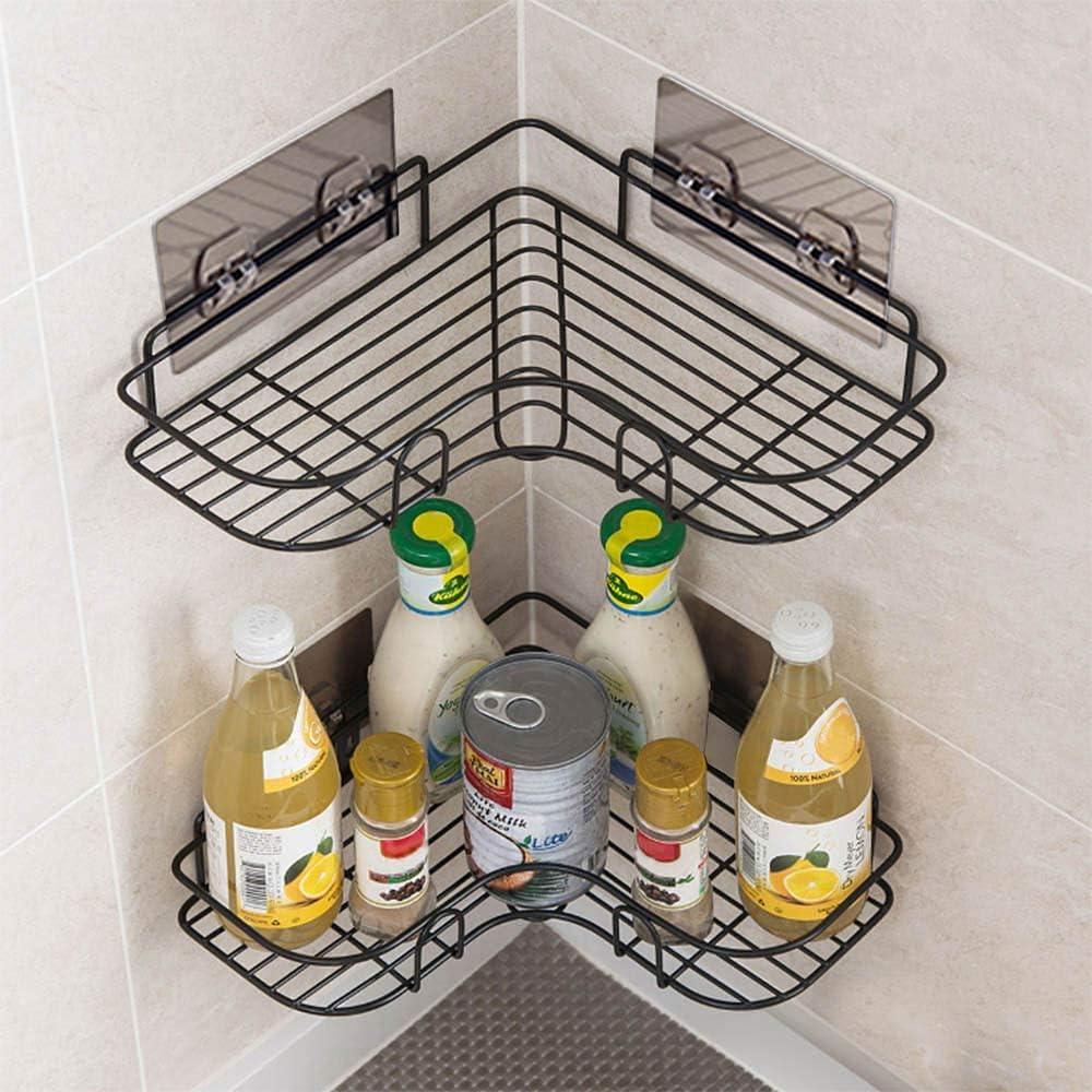 Bathroom Corner Shower Caddy,Shower Organizer Storage,No Drilling Shower Shelves Shower Racks with Rustproof Stainless Steel and Adhesive Sticker for Kitchen & Bathroom Accessories