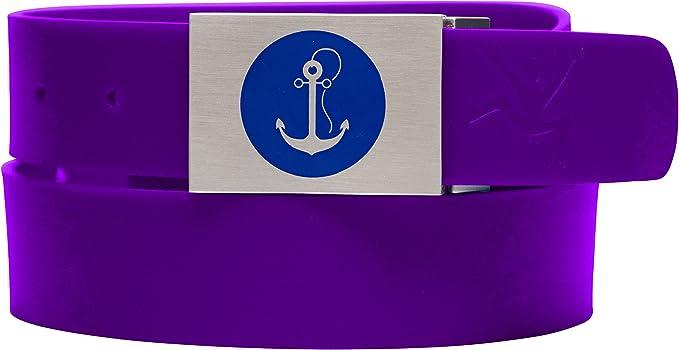 Clazic 1 1//2 Purple Silicone belt with Black Jumper logo buckle