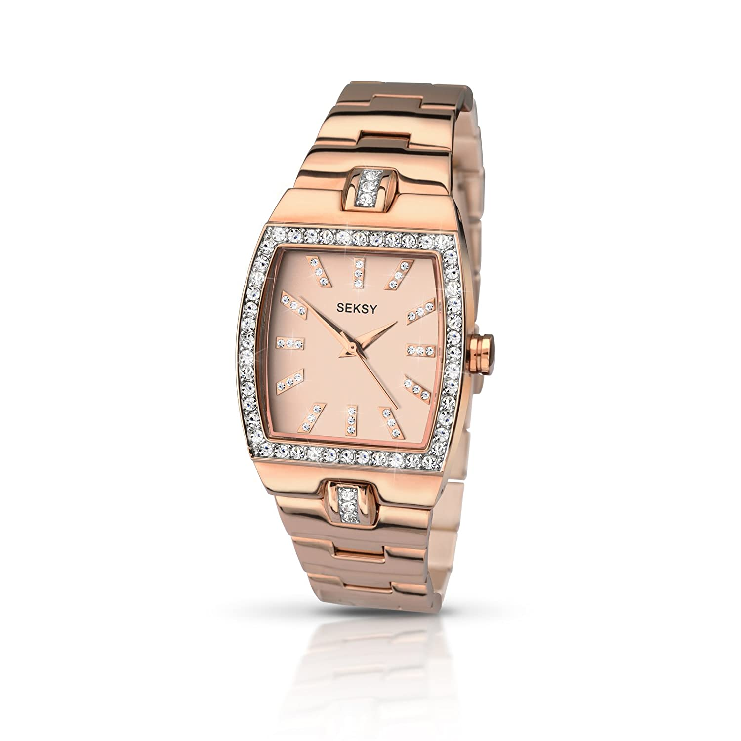 Sekonda Seksy 2081 Damen Rose Gold Plate & Gem