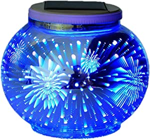 Color Changing Solar Powered Glass Ball Led Garden Lights, Rechargeable Solar Table Lights, Outdoor Waterproof Solar Night Lights Bright Lawn Lamps for Decorations, Ideal Gifts