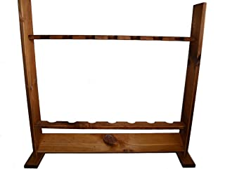 product image for Evans Sports Wooden Standing Rod Rack, Brown