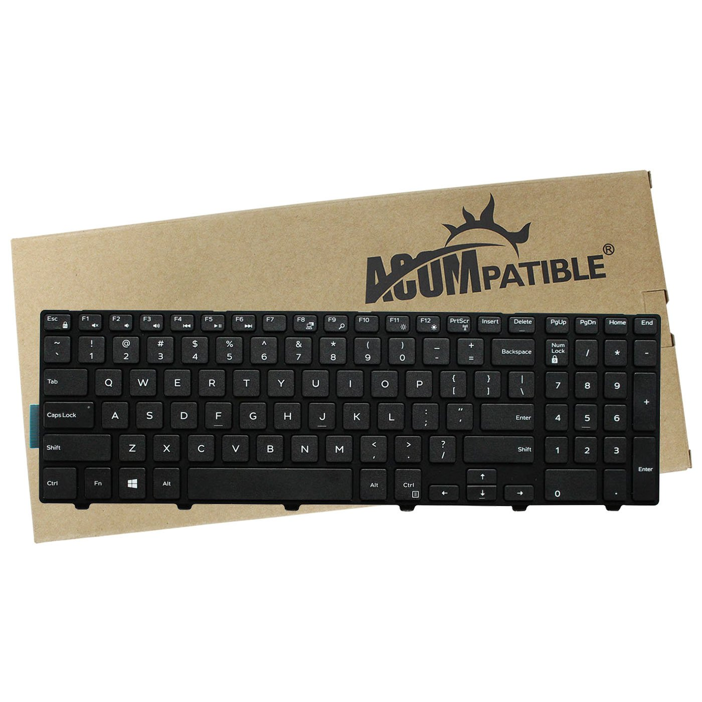 Replacement Keyboard for Dell Inspiron 15 3000 Series 3541 3542 3543 3558  3559 New Version Laptop Without Backlight