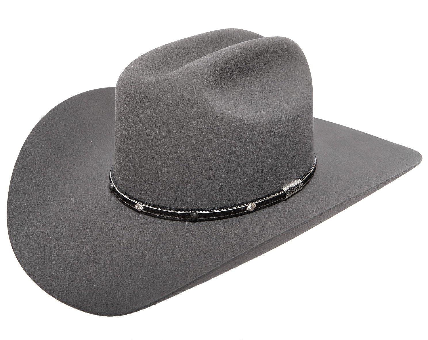 5ae8ce7ae5a Stetson Men s Angus 6X Fur Felt Cowboy Hat at Amazon Men s Clothing store  Cowboy  Hats