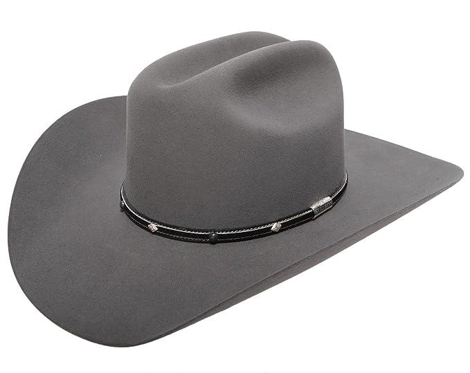 6bd92fa2d06 Stetson Men s Angus 6X Fur Felt Cowboy Hat at Amazon Men s Clothing store  Cowboy  Hats