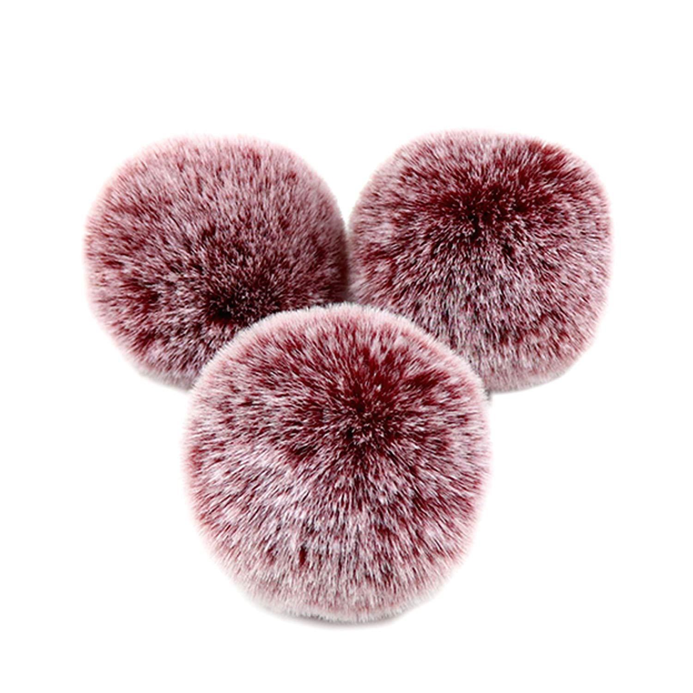 Pom Pom Ball, 3 pcs 8cm Pelucheux Fausse Fourrure Pompon Boule Avec Broche Broches Boucle Pour Clé Pendentif Porte-CléS à Tricoter Chapeau Sac Accessoires Noir Gosear