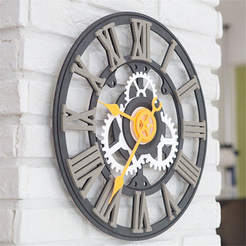 Wall Roman Digital clock European industry retro individuality creative clock living room bedroom clock A by RFVBNM Wall clock (Image #3)