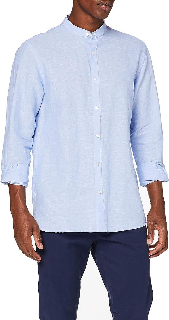 Cortefiel Lino Liso Mao Camisa Casual para Hombre: Amazon.es: Ropa y accesorios