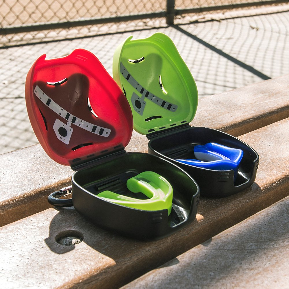 Basketball Shock Doctor Mouthguard: #1 Sport Mouth Guard Gel Max Mouthguard /& Case Combo for Football Martial Arts and More Youth /& Adult Includes Helmet Strap and case Boxing Lacrosse MMA