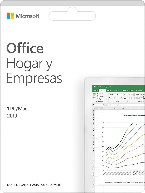 Microsoft Office Hogar y Empresas 2019 | Todas las aplicaciones de Office 2019 para 1 PC | Box