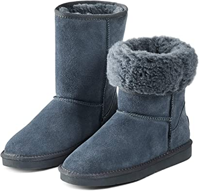 Have Fun With U Snow Boots for Women 100/% Cow Suede Leather Warm Winter Boots Shoes