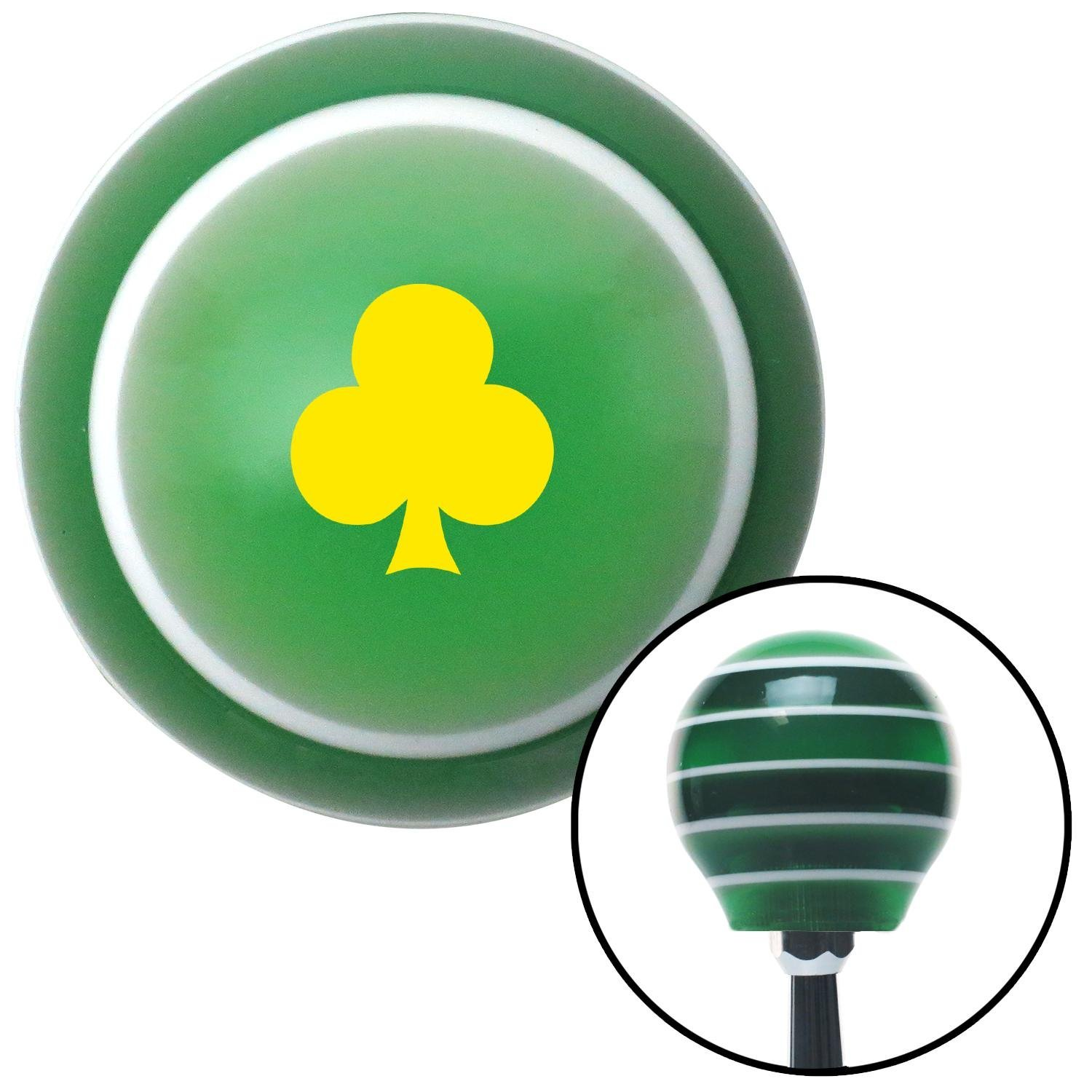 American Shifter 274838 Shift Knob Yellow Clubs Green Stripe with M16 x 1.5 Insert