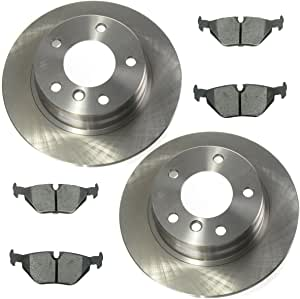Front And Rear Brake Rotors /& Ceramic Pads For BMW 325i 318i 318is 328i