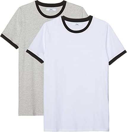 Marca Amazon - find. Camiseta Hombre, Pack de 2: Amazon.es: Ropa y ...