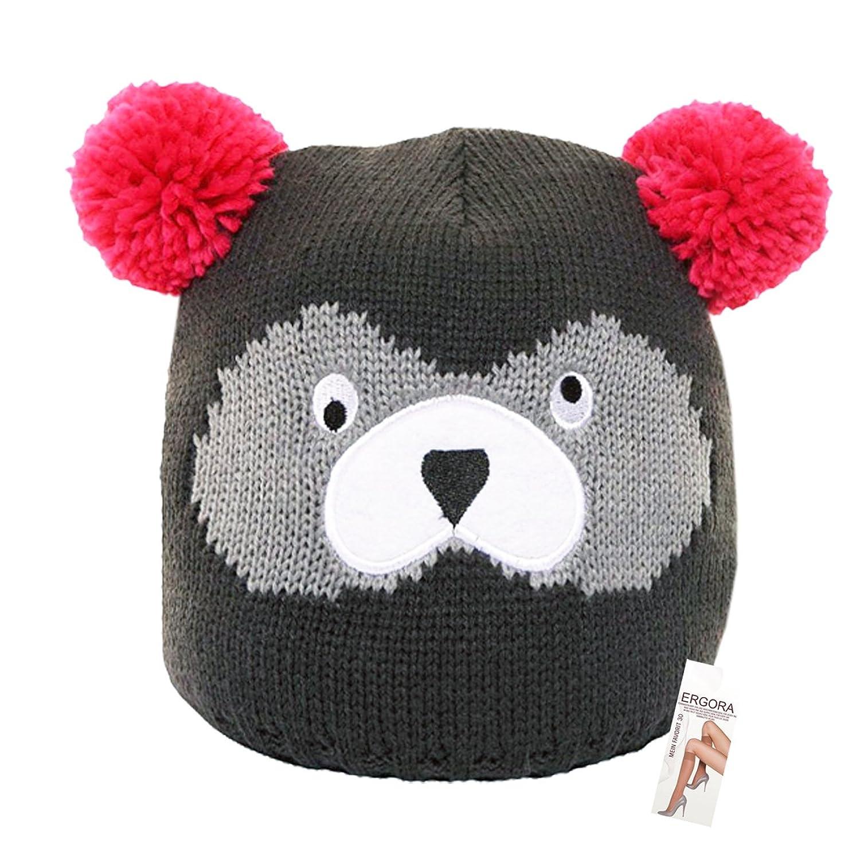Galeja Wintermütze Bären Skimütze in One Size Größe 53-55 in 3 verschiedenen Farben für Mädchen