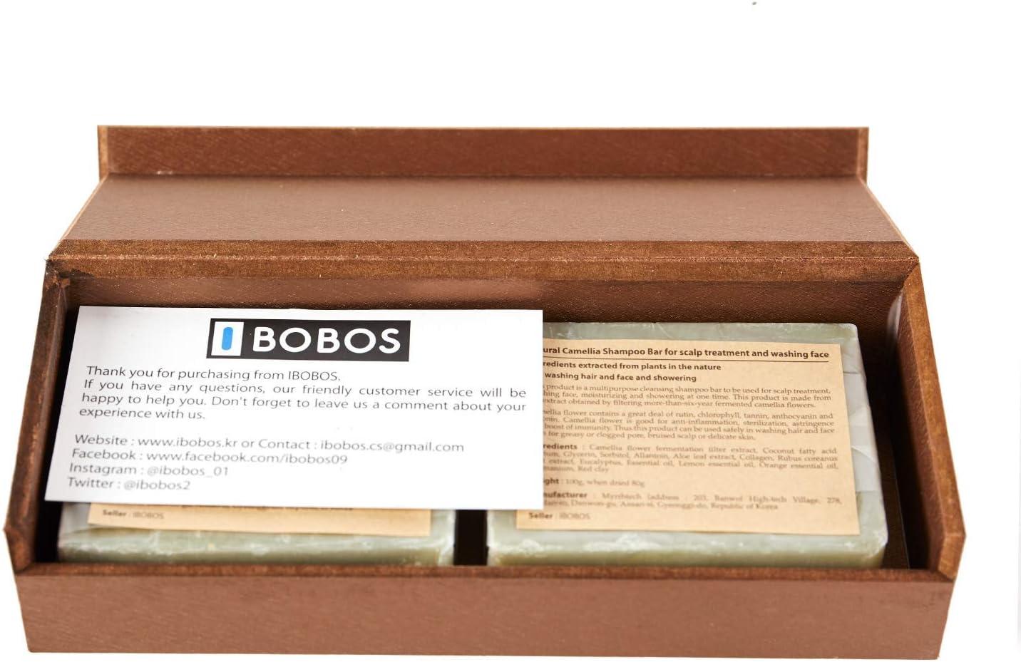 IBOBOS Jabón de barra de champú orgánico natural para el cuero cabelludo y la cara, cabello, piel y uñas 3,5 oz X 2