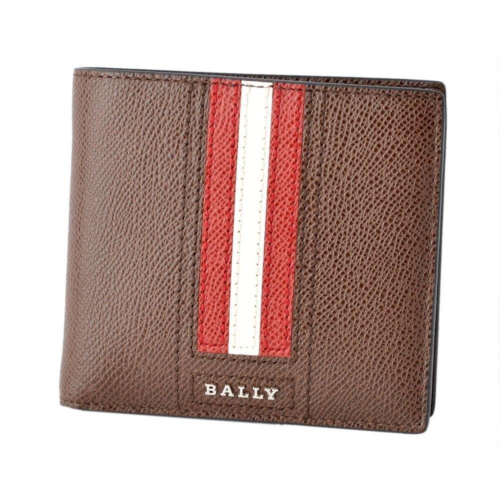 バリー BALLY TEISEL.LT 211 6219954 バリーストライプ 小銭入れ付 二つ折り財布 [並行輸入品] B07CZ2GMXZ