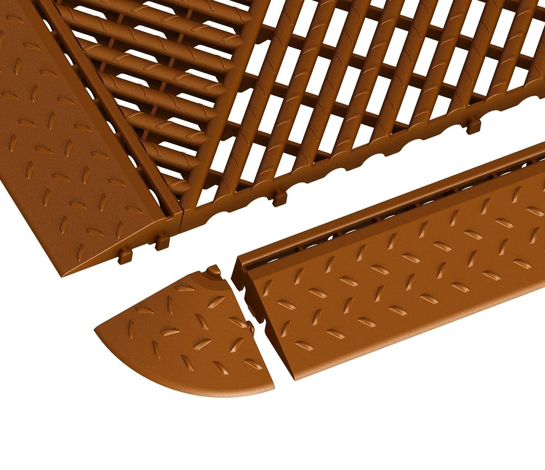Terrassenfliese ab 4 St/ück Rasenfliese Eckelement f/ür Bodengitter Balkonfliese Bodenrost 60 x 60 x 18 mm aus Kunststoff 4, gr/ün
