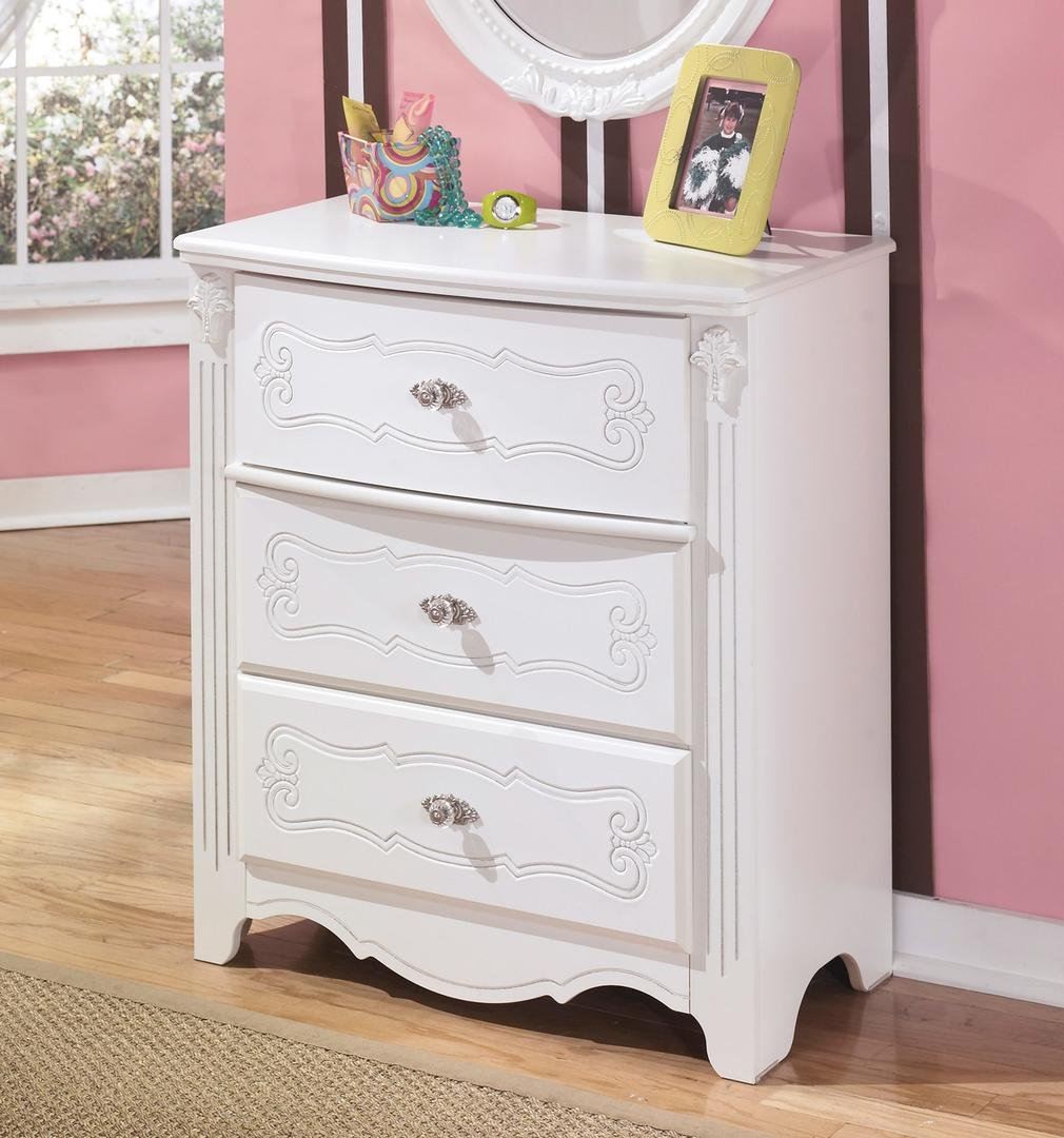 Ashley Furniture Signature Design - Exquisite Chest of Drawers - 3 Drawer Dresser - Kids Room - White