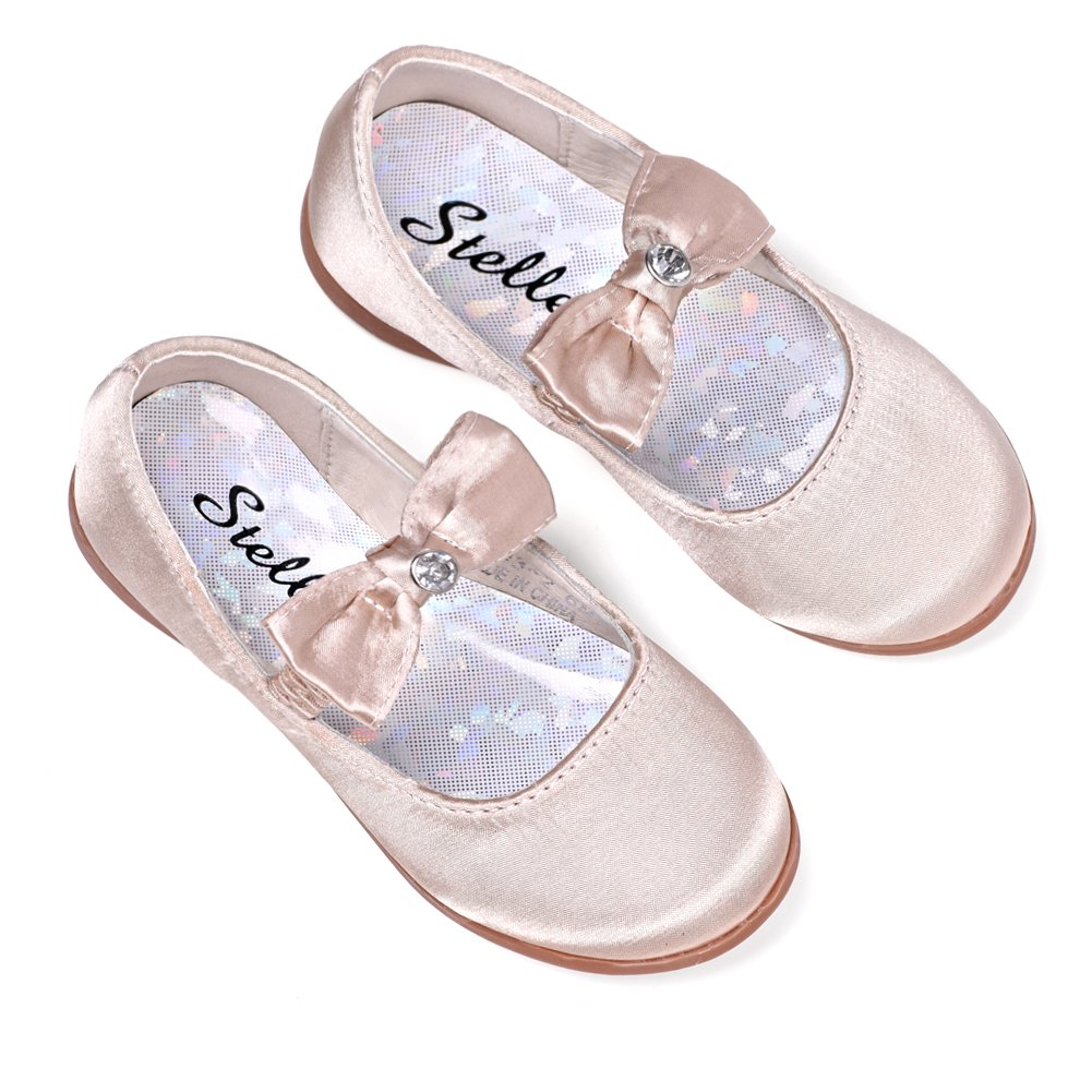 STELLE Girls Mary Jane Flat Slip-on Party Dress Shoes for Kids Toddler