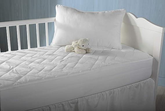 Pikolin Home - Cubre colchón acolchado, antialérgico (antiácaros, bacterias y moho), impermeable, 60x120cm (Todas las medidas): Amazon.es: Hogar