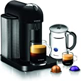 Nespresso A+GCA1-US-BM-NE VertuoLine Coffee and Espresso Maker with Aeroccino Plus Milk Frother, Matte Black