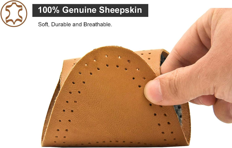 riemot Semelles Chaussures en Cuir Confort pour Hommes et Femmes Semelles en Peau de Mouton//Porc Coussinet Chaussure Ultra Fine Anti Odeur Anti Transpiration