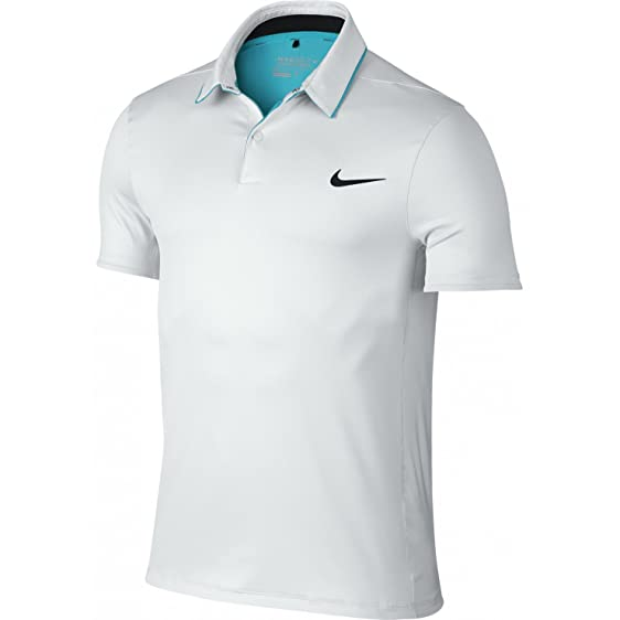 Nike Mens Dri-Fit Modern Momentum Fly UV Reveal Golf Polo White (Medium)
