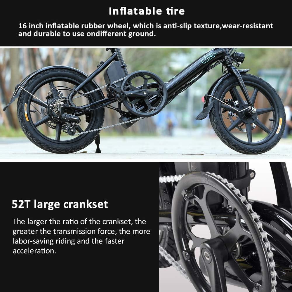 FIIDO Ebike Plegable con Amortiguador, Bicicletas Electricas con ...