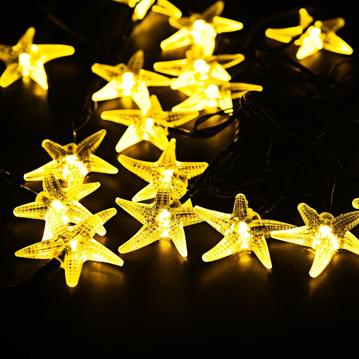 Guirnalda Luces m VicTsing LED Blanco Cálido Forma de Estrellas de Mar