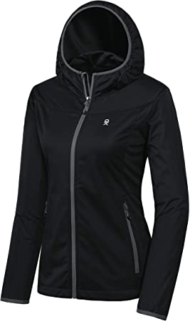 Little Donkey Andy Womens Softshell Jacket with Removable Hood Fleece Lined and Water Repellent